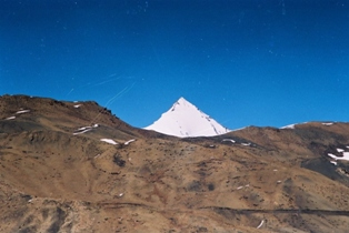 Nature's triangle: The Shila peak. Pix: Rajesh Mall